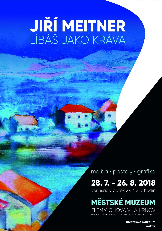 Pozvánka na výstavu Líbáš jako kráva, Krnov